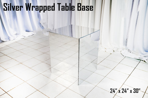 Silver Wrapped Table Base