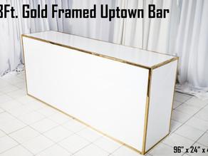Gold Framed Uptown Bar - 8Ft.