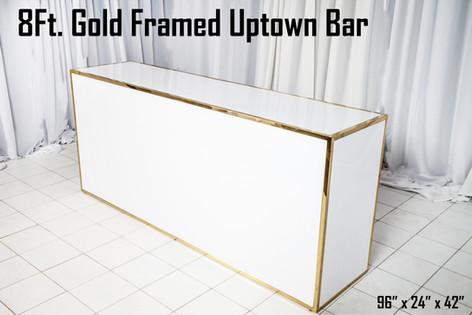 Gold Framed Uptown Bar 8Ft.