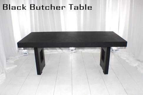 Black Butcher Table