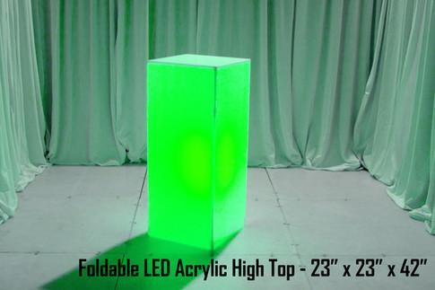 Foldable LED Acrylic High Top