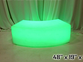 """LED Curved Bench - 48"""""""