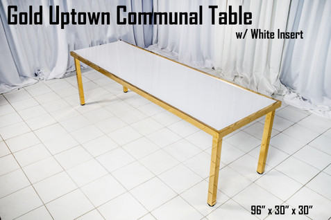 Gold Uptown Communal Table White Insert