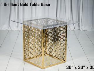 "Brilliant Gold Table Base - 30"""