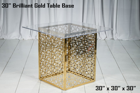 30 Inch Brilliant Gold Table Base
