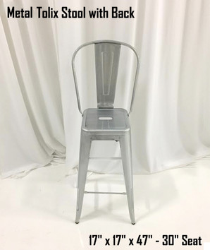 Metal Tolix Stool with Back