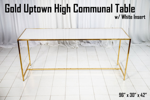 Gold Uptown High Communal Table White Insert