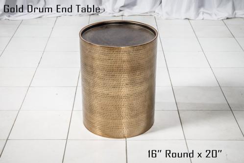 Gold Drum End Table copy
