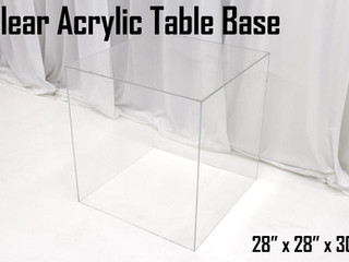 Clear Acrylic Table Base