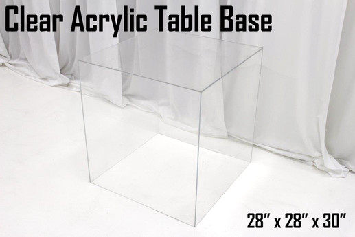 Clear Acrylic Table Base