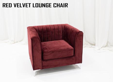 Red Velvet Lounge Chair