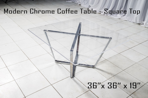 Modern Chrome Coffee Table Square