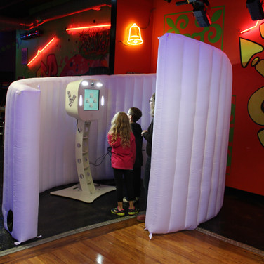 White Inflatable Swirl