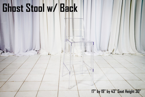Ghost Stool with Back
