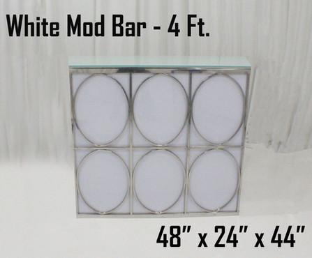 White Mod Bar 4Ft.