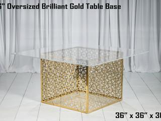 "Brilliant Gold Table Base - 36"""