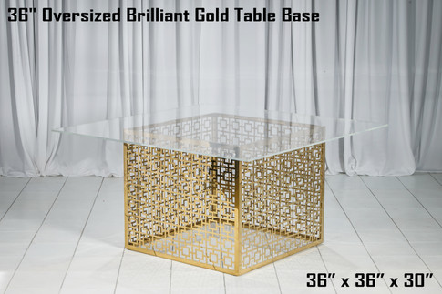36 Inch Oversized Brilliant Gold Table Base