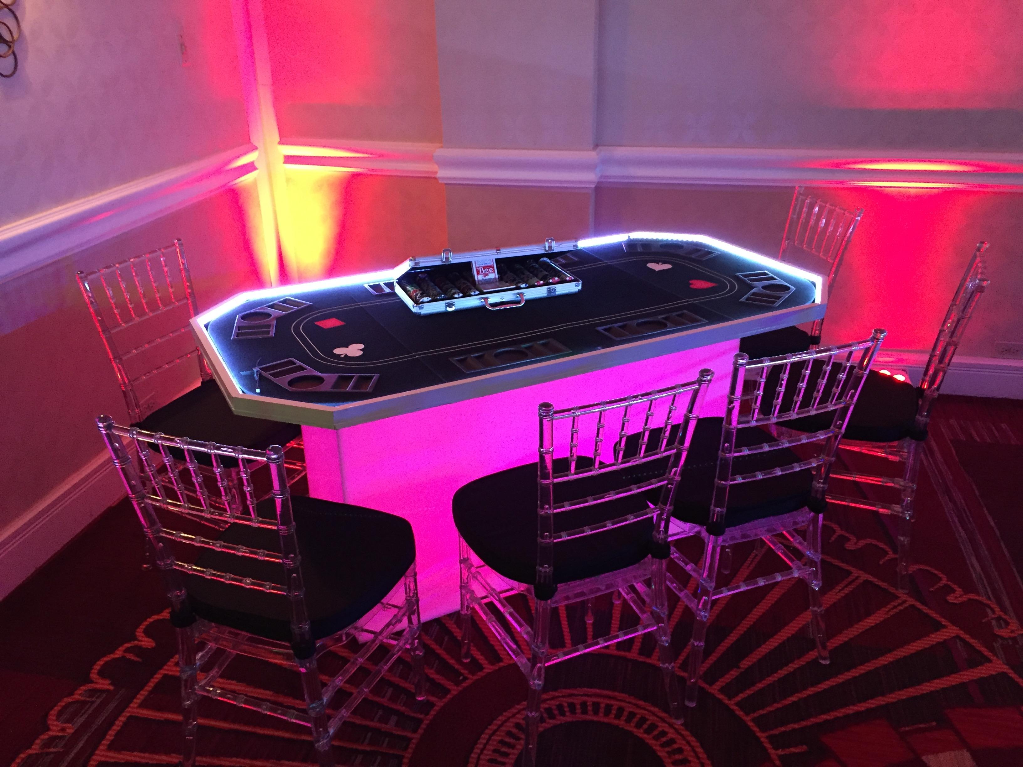 LED Casino Table
