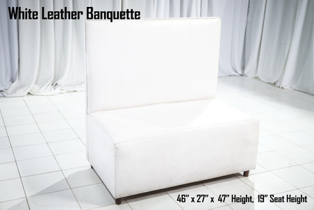 White Leather Banquette