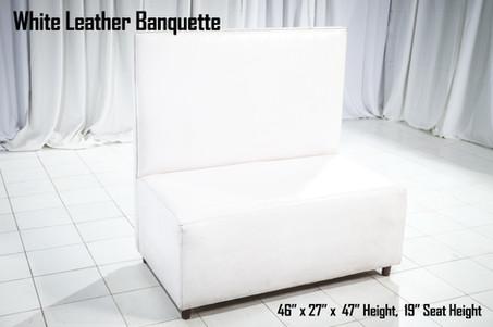White Leather Banquette
