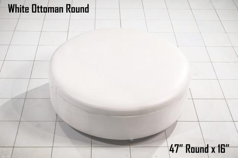 """White Ottoman Round 47"""""""
