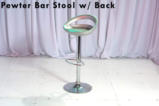 Pewter Bar Stool with Back