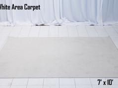 White Area Carpet