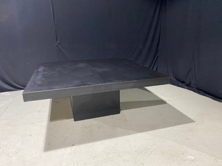 EP Black Leather 6' x 6' Dinner Table