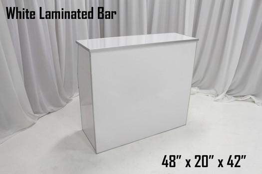 White Laminated Bar