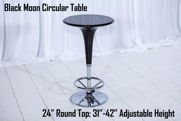 Black Moon Circular Table