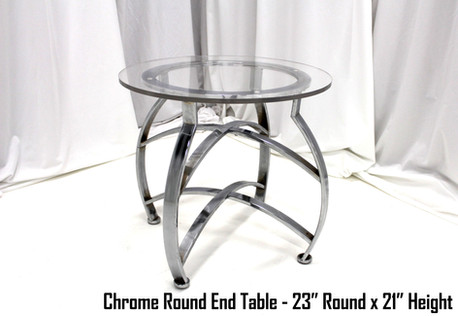 Chrome Round End Table