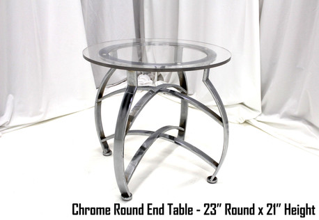 Chrome Round End Table