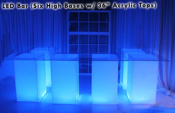 LED Bar Six Highs Acrylic Tops