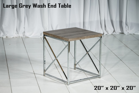 Large Grey Wash End Table