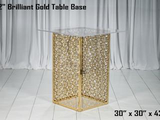 "Brilliant Gold Table Base - 42"""