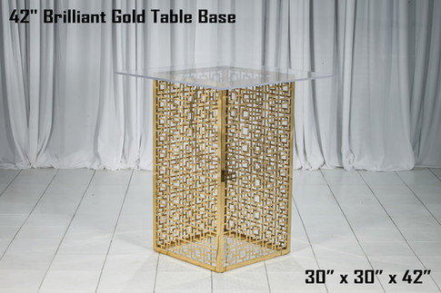 42 Inch Brilliant Gold Table Base