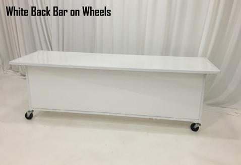 White Back Bar on Wheels