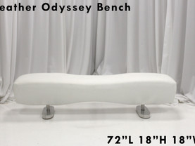 White Leather Odyssey Bench