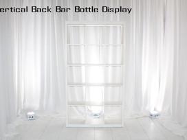 White Vertical Back Bar
