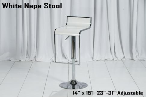 White Napa Stool