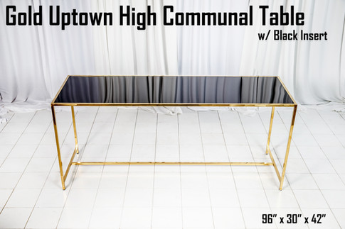 Gold Uptown High Communal Table Black Insert