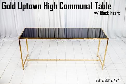 Gold Uptown High Communal Table Black Insert