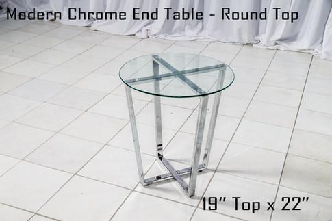 Modern Chrome End Table Round