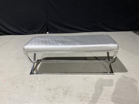 Silver Criss Cross Bench