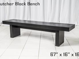 Black Butcher Block Bench