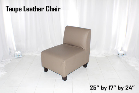 Taupe Leather Chair