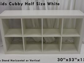 White Half Cubby Storage