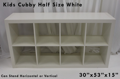 White Half Cubby