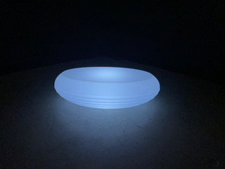 LED Oval Coffee Table