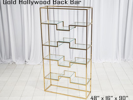 Gold Hollywood Back Bar